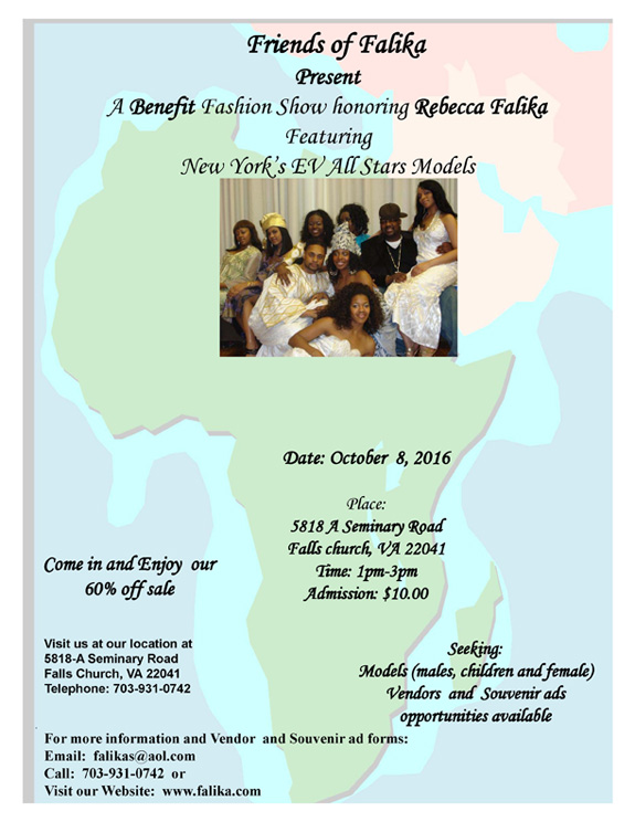 Benefit Fashion Show honoring Rebecca Falika